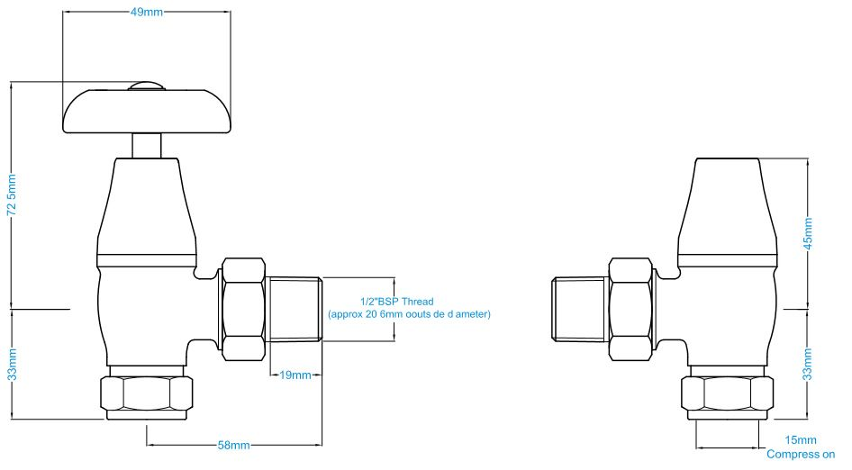 manual crocus radiator valves black nickel rh castironradiators ltd uk Radiator Heater Car Radiator